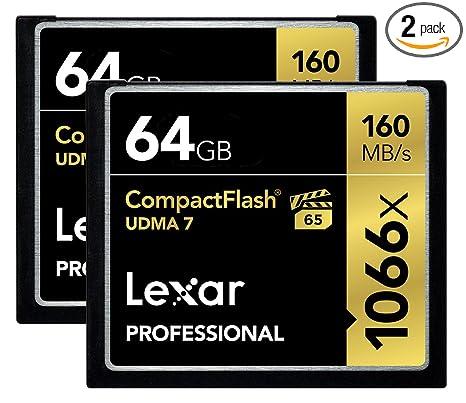Amazon.com: Lexar tarjeta de video CompactFlash, profesional ...