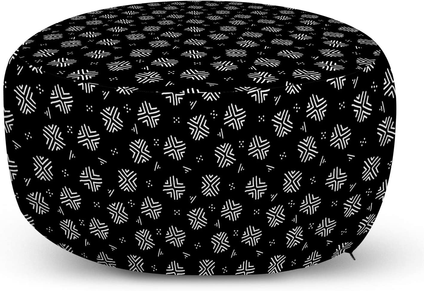 Ruby Blue Green Ambesonne Mudcloth Ottoman Pouf Native Folkloric Boho Inner Squares With Little Dots Pattern Decorative Soft Foot Rest With Removable Cover Living Room And Bedroom Home Kitchen Home Decor