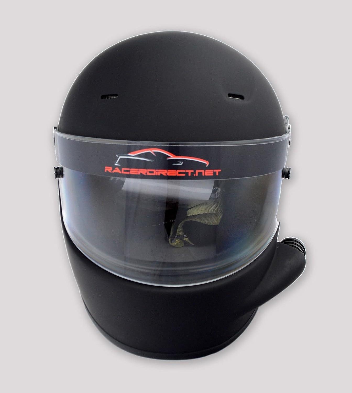 RACERDIRECT.NET Side Vented Racing Helmet Matte Black SA2015 Full FACE Snell SA 2015 Rating Adult Medium