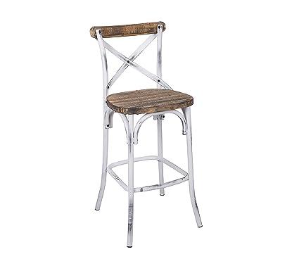 amazon com acme furniture 96642 zaire bar chair walnut antique