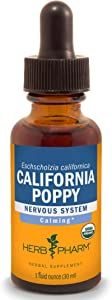 Herb Pharm Certified Organic California Poppy Liquid Extract for Calming Nervous System Support - 1 Ounce