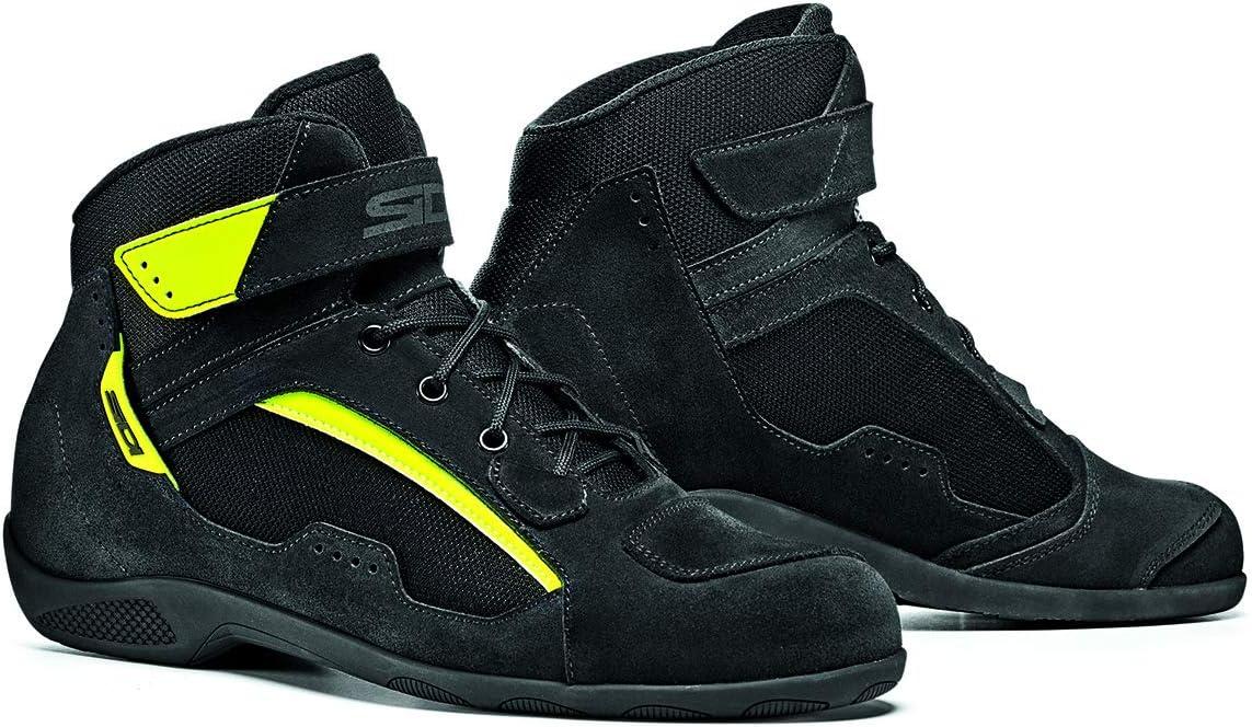 Sidi Duna Boots Black//Fluorescent Yellow Size 43