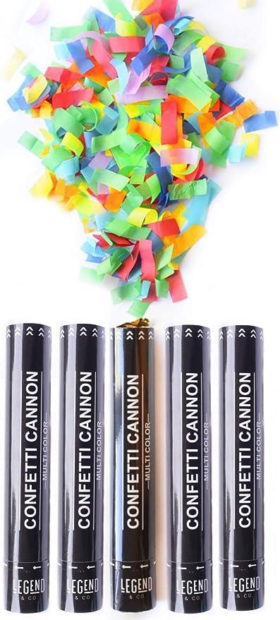 Confeti Cannons - Puppers de fiesta biodegradables (12 pulgadas ...
