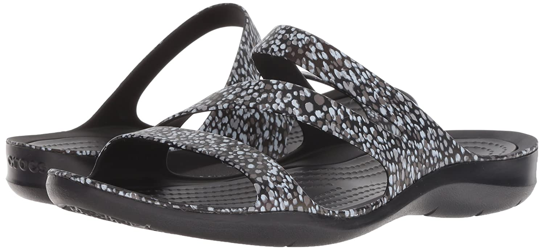 Crocs Women's Swiftwater Graphic Sandal B0788GFPQ4 8 B(M) US|Dots