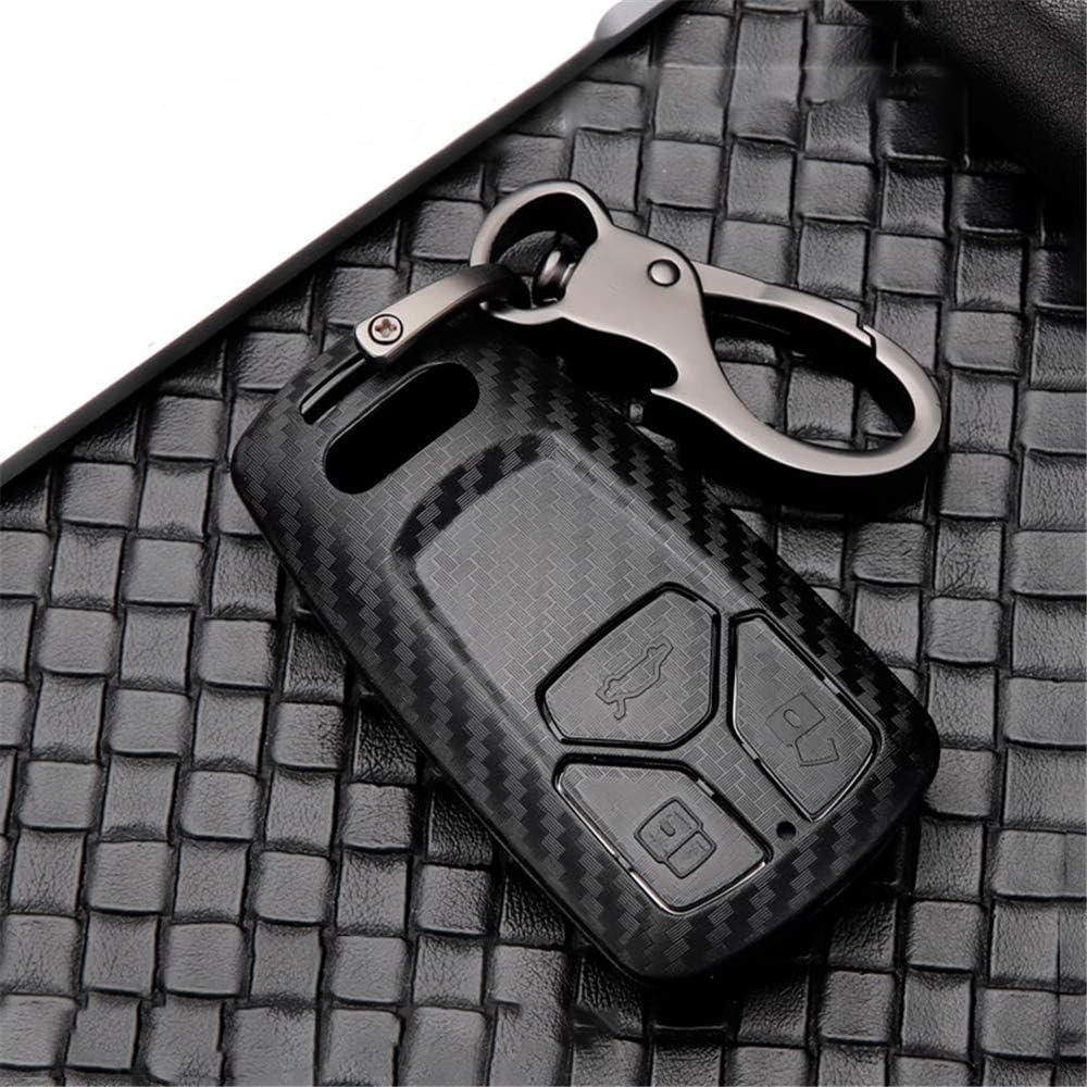 NOVATEC 3/Boutons Cl/é de Voiture Audi Coque//cl/és de Voiture Protector Skin//Housse de cl/é de Voiture Housse de Protection pour Audi A1/A3/A4/A6/A8/TT TTS R8/S1/S3/S6/RS3/RS4/RS