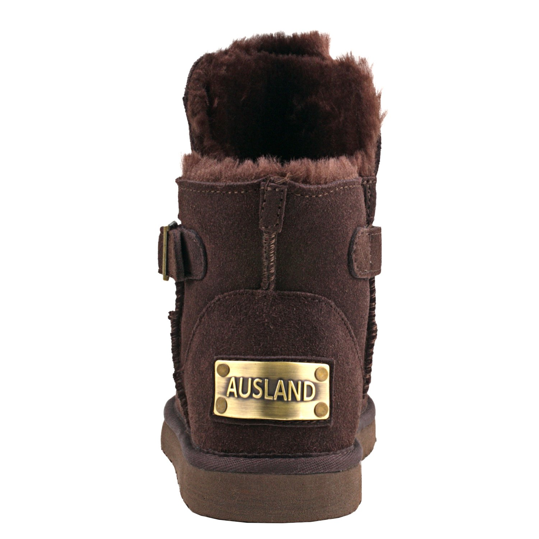 Shenduo Damen Damen Damen Schlupfstiefel Kurzschaft Winterstiefel Leder Winter Klassisch Stiefel D9527 e446d3