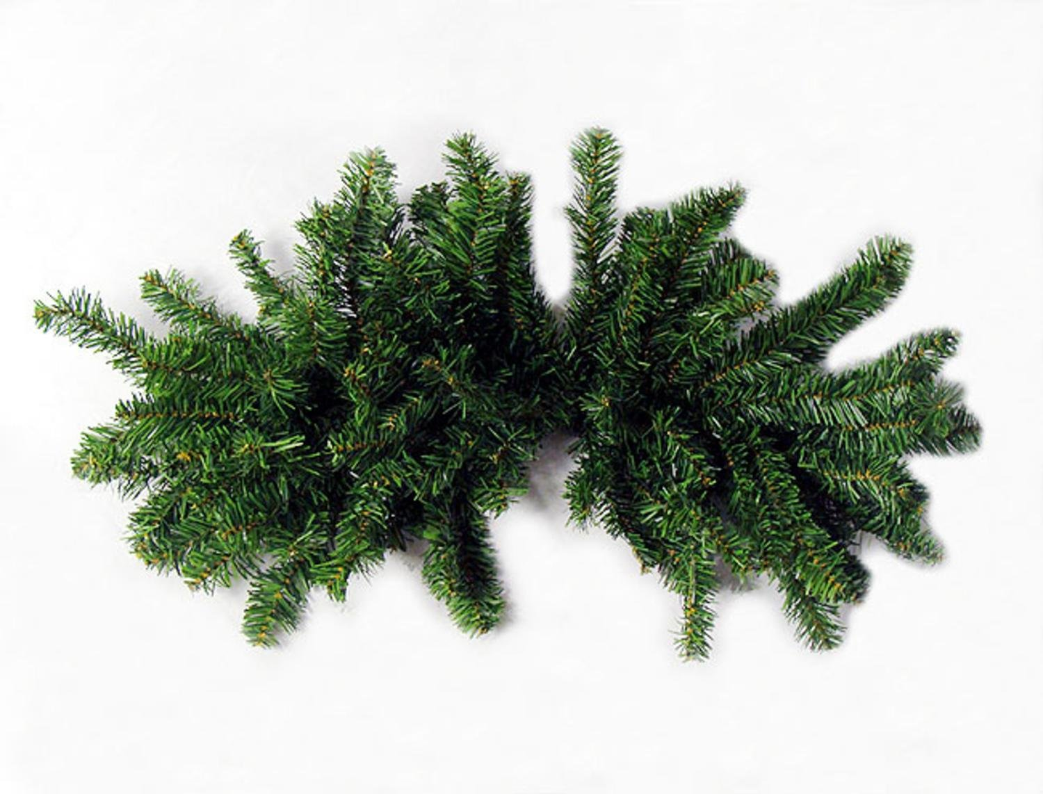 Darice 32'' Pre-Lit Canadian Pine Artificial Christmas Swag - Clear Lights