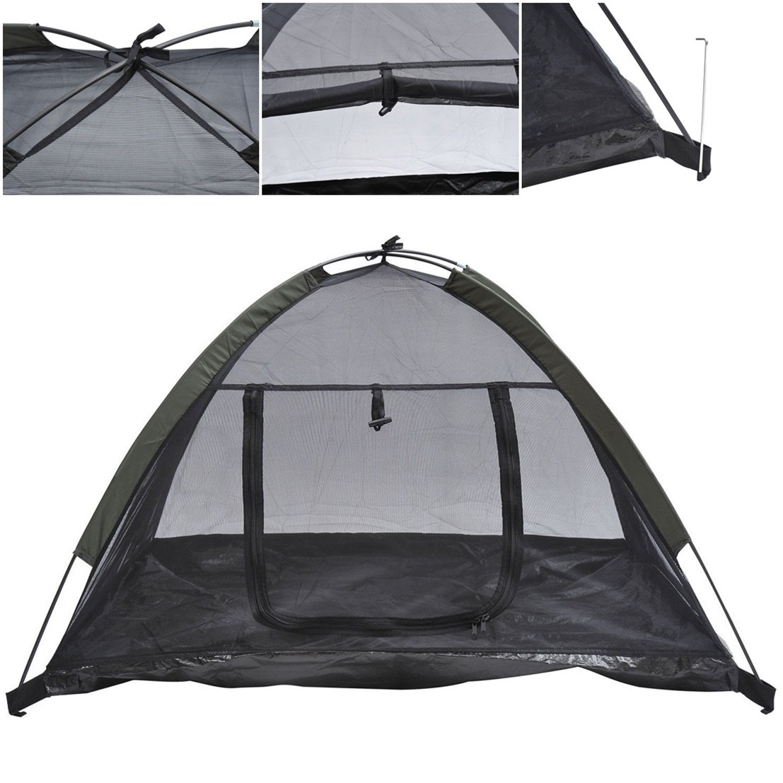 1Pcs Splendid Popular Pet Tent House Cat Beach Shelter Puppy Outdoor Camp Sleeping Couch Color Black