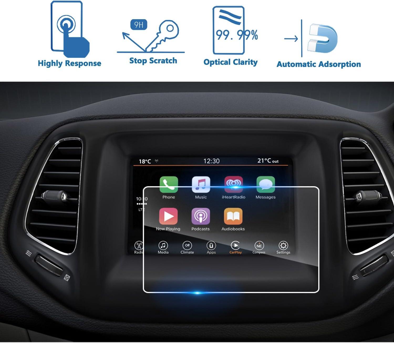 LFOTPP Jeep Compass Uconnect 7 pulgadas Navegación Protector de pantalla - 9H Cristal Vidrio Templado GPS Navi película protegida Glass