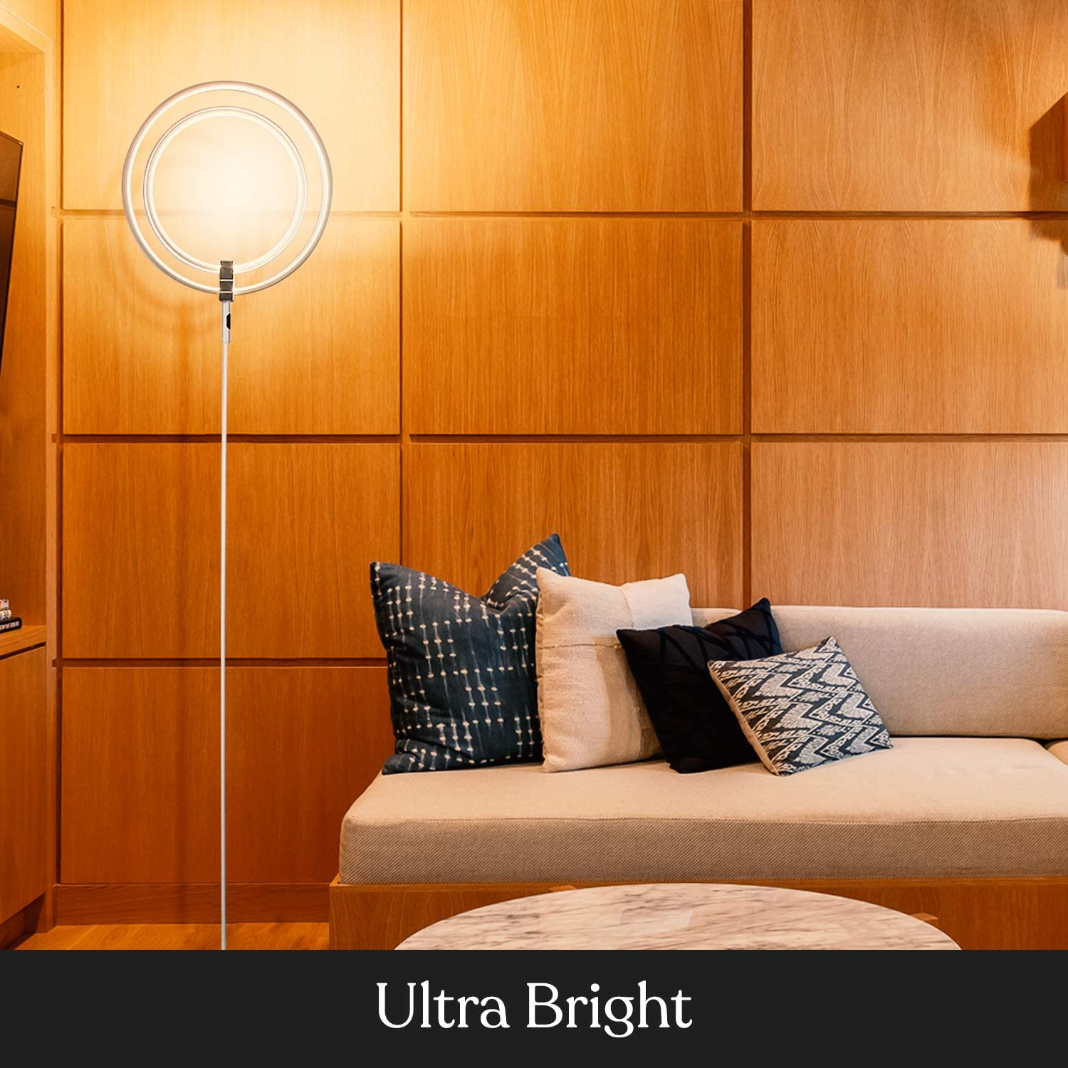 Eclipse Modern LED Torchiere Floor Lamp