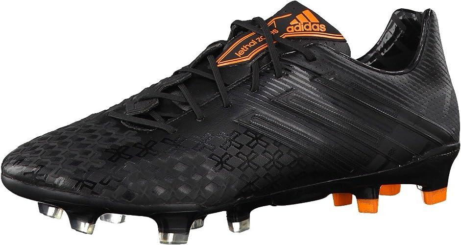 adidas Predator LZ TRX FG, Bota de fútbol, Negra-Solar Zest ...
