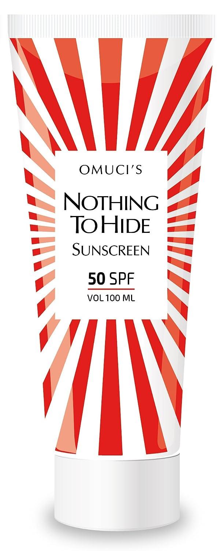 Protector solar respetuoso con el medio ambiente Nothing To Hide de Omucis. Apto para veganos, ingredientes naturales. Protección UVA + UVB.