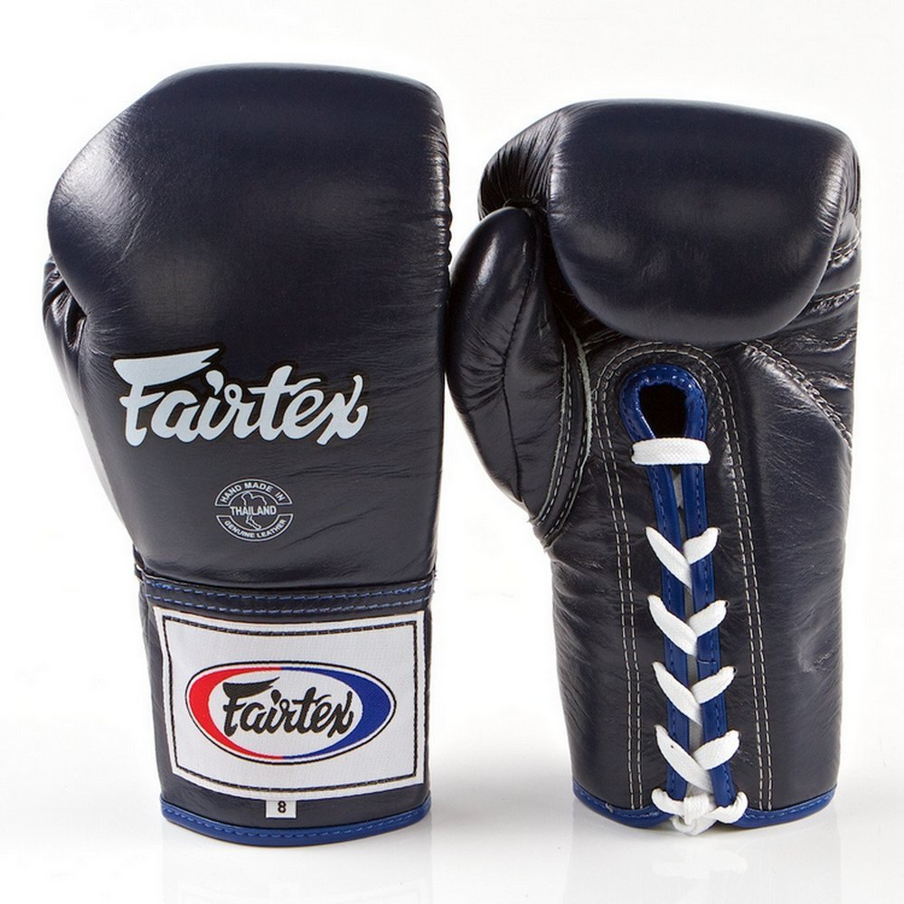 Fairtex Pro Competition gloves-locked親指bgl6ブルー色for Muay Thai Kick Boxing MMA k1 B075TGMC49  16 oz