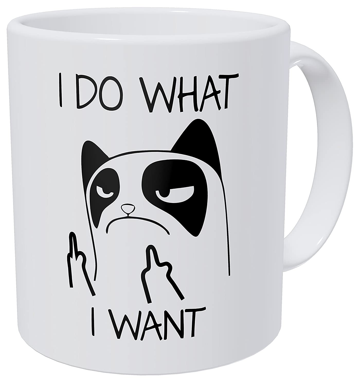 11oz Funny Cat Kitten Mug I Work Hard So My Cat Can Live A