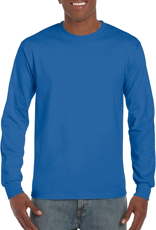 Gildan Mens Mens Ultra Cotton Jersey Long Sleeve Tee Shirt