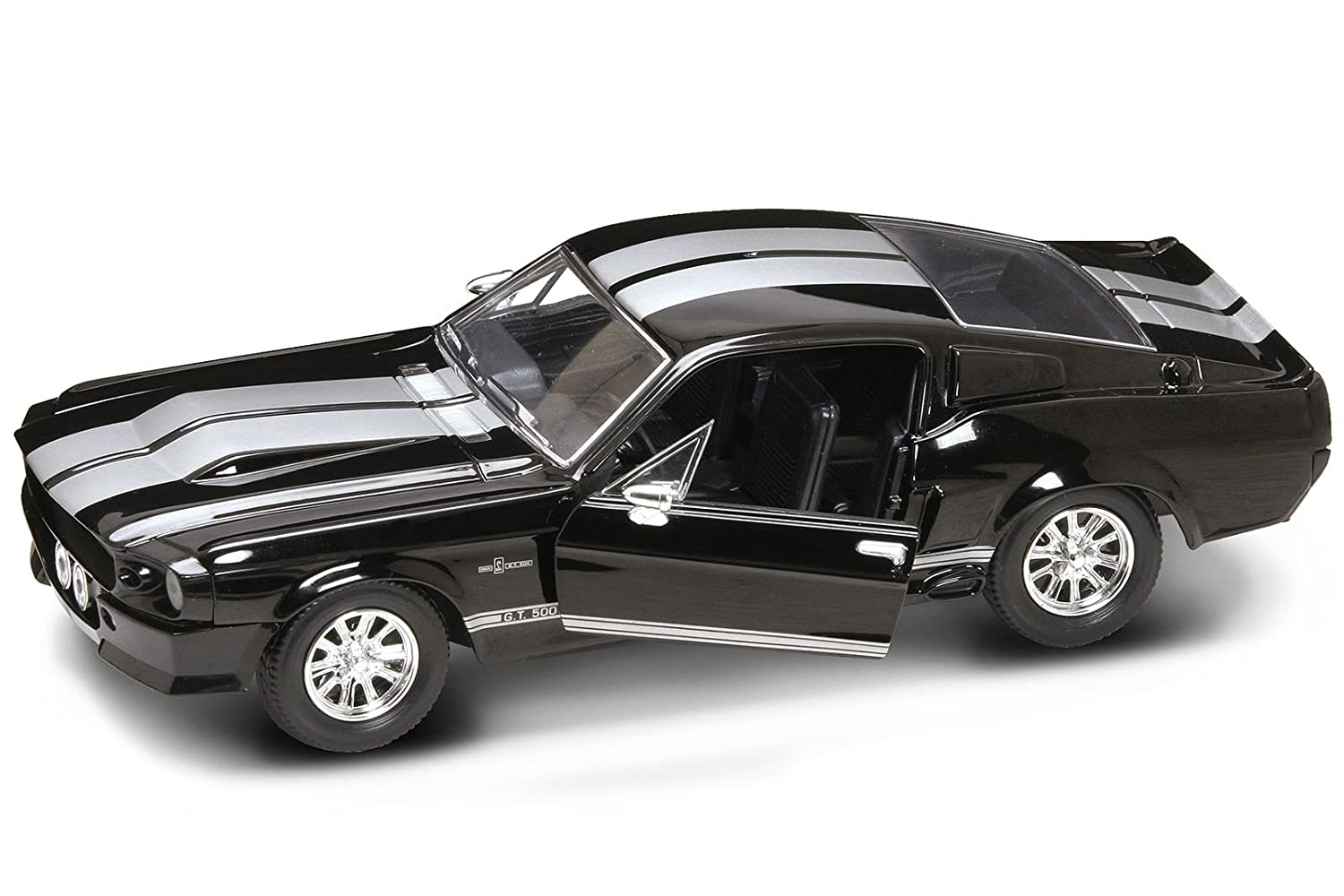Ford lucky diecast 1 24 shelby mustang gt 500 1967 black gt500 die cast car amazon co uk toys games