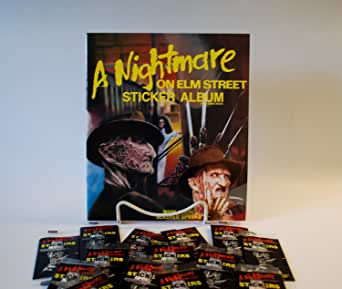 1984 Nightmare on Elm Street Sticker Album with 10 Pack of Stickers