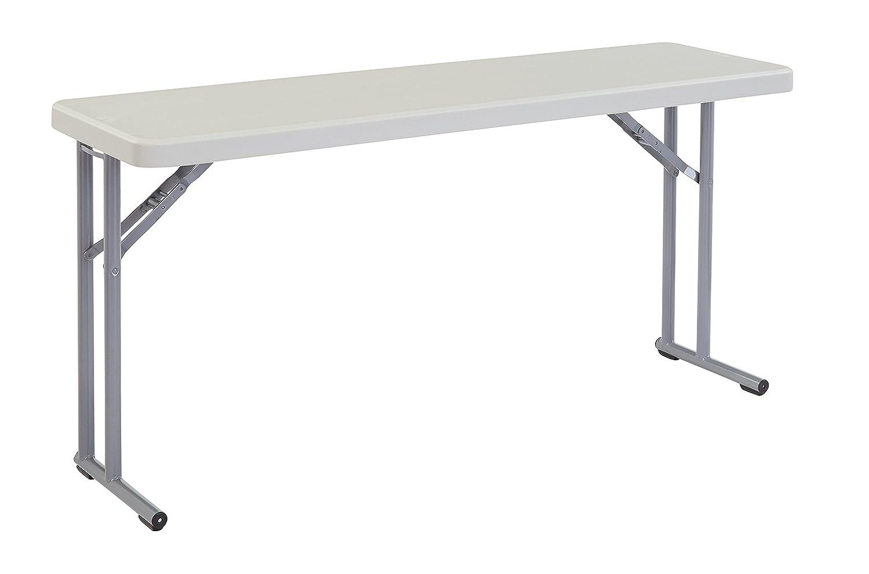 """NPS 18"""" x 60"""" Heavy Duty Seminar Folding Table, Speckled Gray, 700 lb Capacity"""
