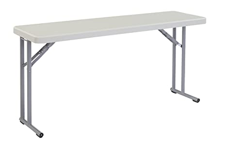 Amazoncom NPS X Heavy Duty Seminar Folding Table Speckled - 18 x 60 training table