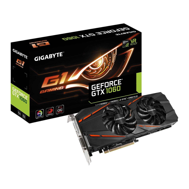 Gigabyte GV-N1060G1 GAMING-6GD V2 - Tarjeta gráfica (6 GB) Color Negro