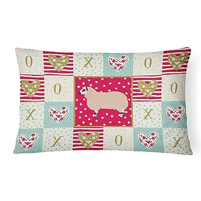 Caroline's Treasures CK5406PW1216 Kerry Hill Sheep Love Canvas Fabric Decorative Pillow, 12H x16W, Multicolor : Garden & Outdoor