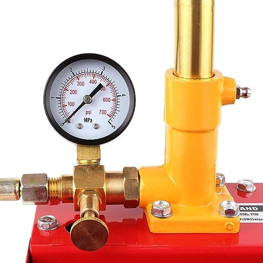 rossa. 5/litri Fixkit Pompa per collaudo e pressurizzazione di circuiti idraulici
