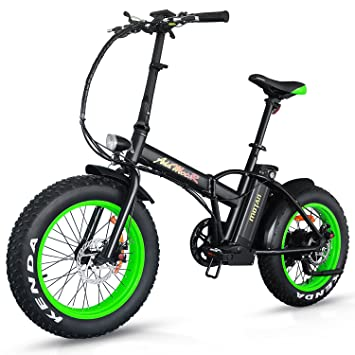 Addmotor MOTAN M-150 Bicicleta plegable eléctrica de 500 W para adultos equipada con ruedas Fat ...
