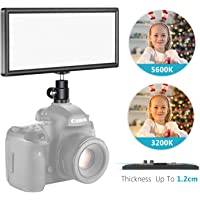 Neewer Super Slim Bi-Color Dimmable LED Video Light with LCD Display - Ultra High Power On Camera LED Panel, 3200K-5600K…