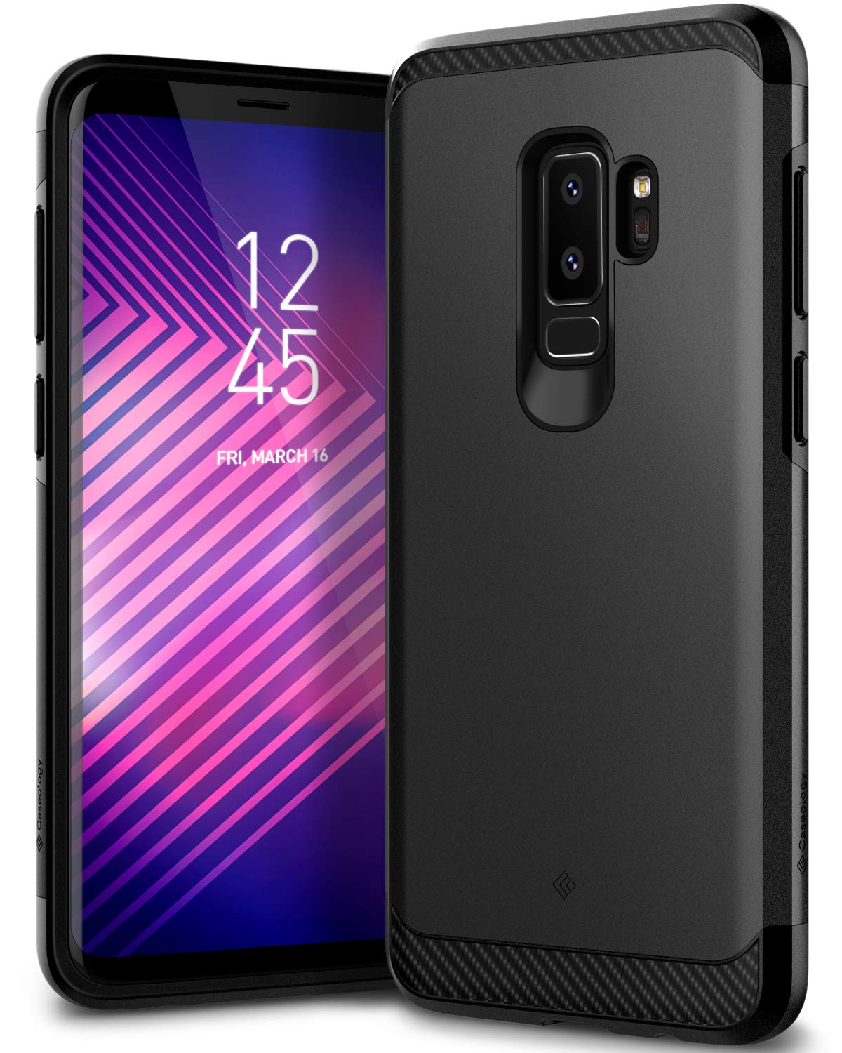 sale retailer d7327 6f846 Caseology Legion for Galaxy S9 Plus Case (2018) - Reinforced Protection -  Black