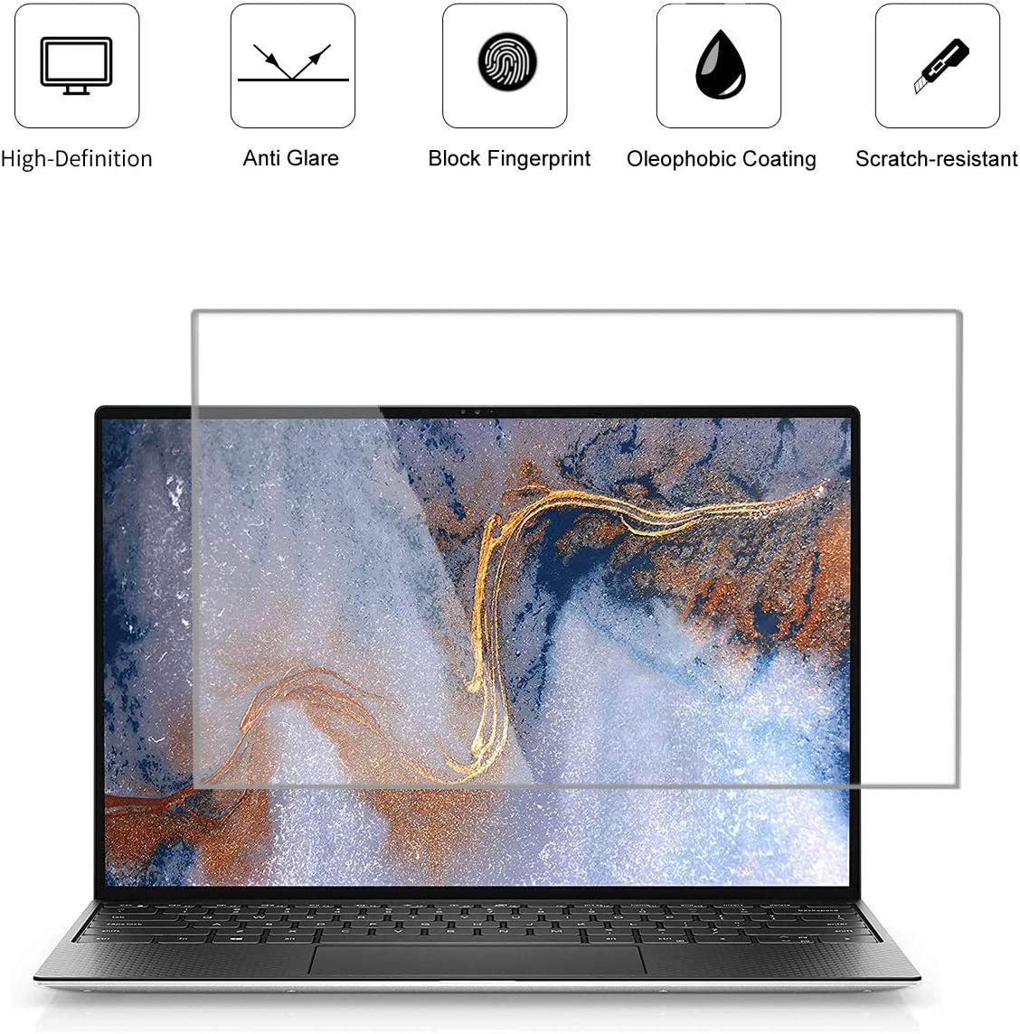 KEANBOLL 3 Pack Matte Anti-Glare Screen Protector for New Dell XPS 13 9300 13.4-Inch Laptop, Help for Your Eyes Reduce Fatigue, Anti Fingerprint