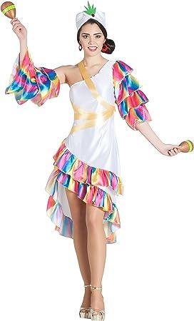 Banyant Toys, S.L. Disfraz DE RUMBERA Blanca: Amazon.es: Juguetes ...
