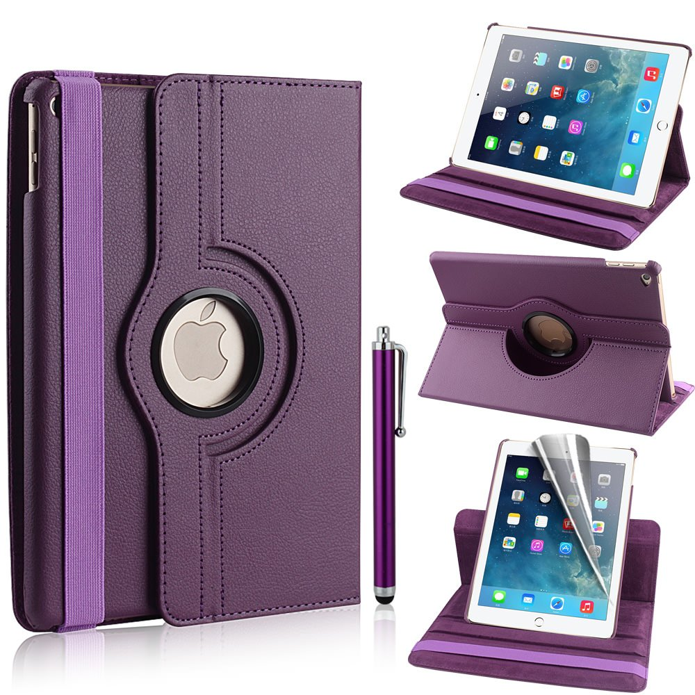 360 Rotating Stand Flip Smart Case Cover for Apple iPad Air 2 iPad 6th Gen
