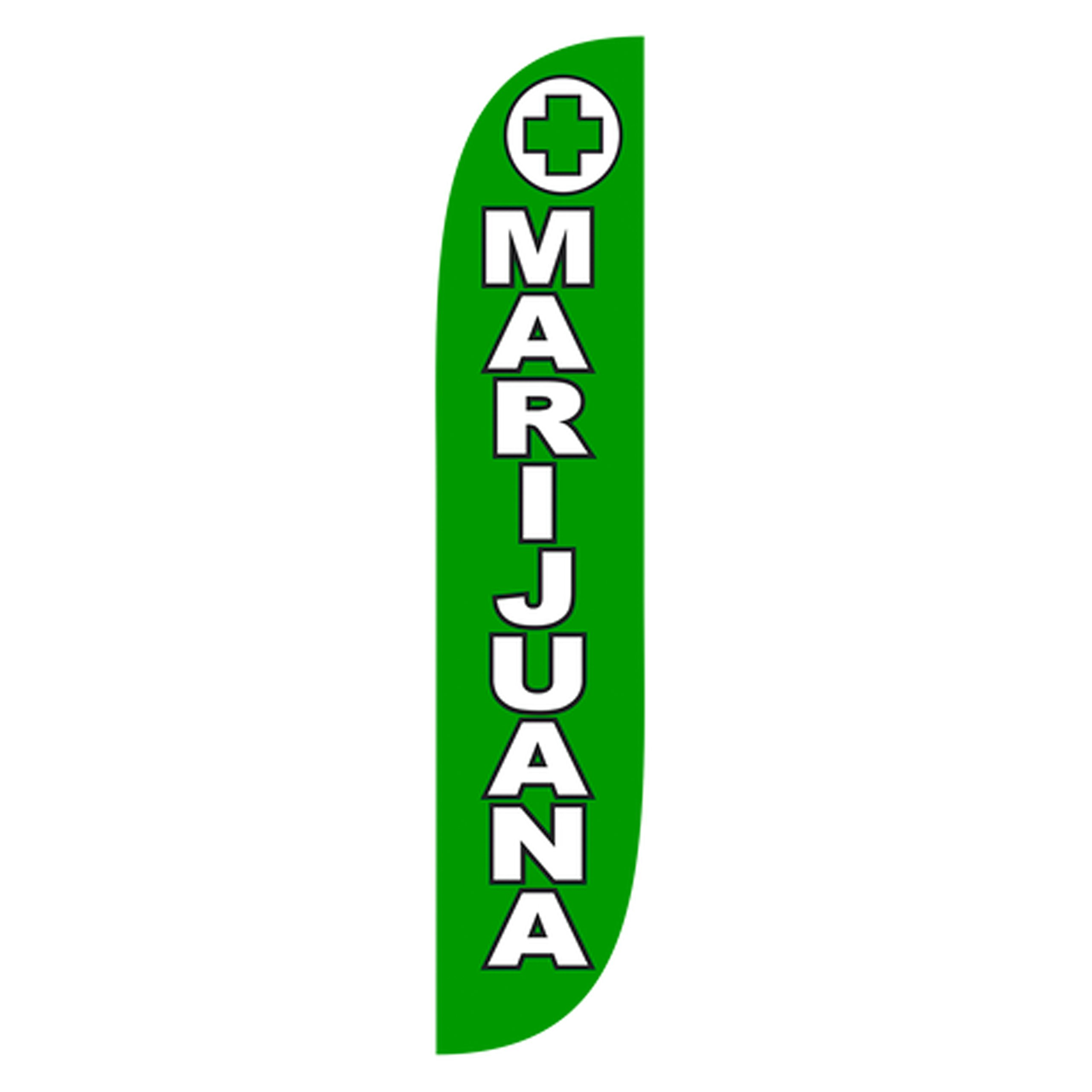 LookOurWay Marijuana Feather Flag, 12'