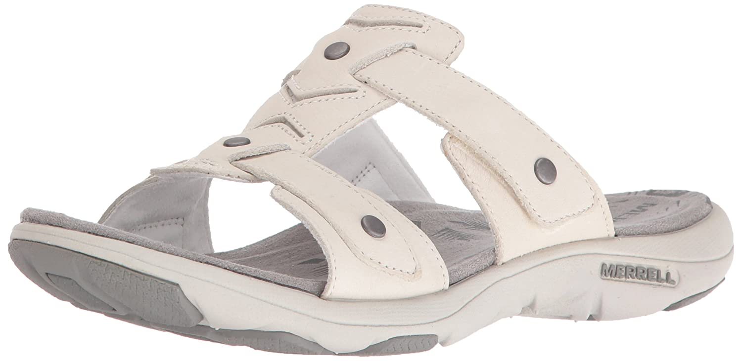 Merrell Women's Adhera Slide II Athletic Sandal B01HIZW1FQ 6 B(M) US|White