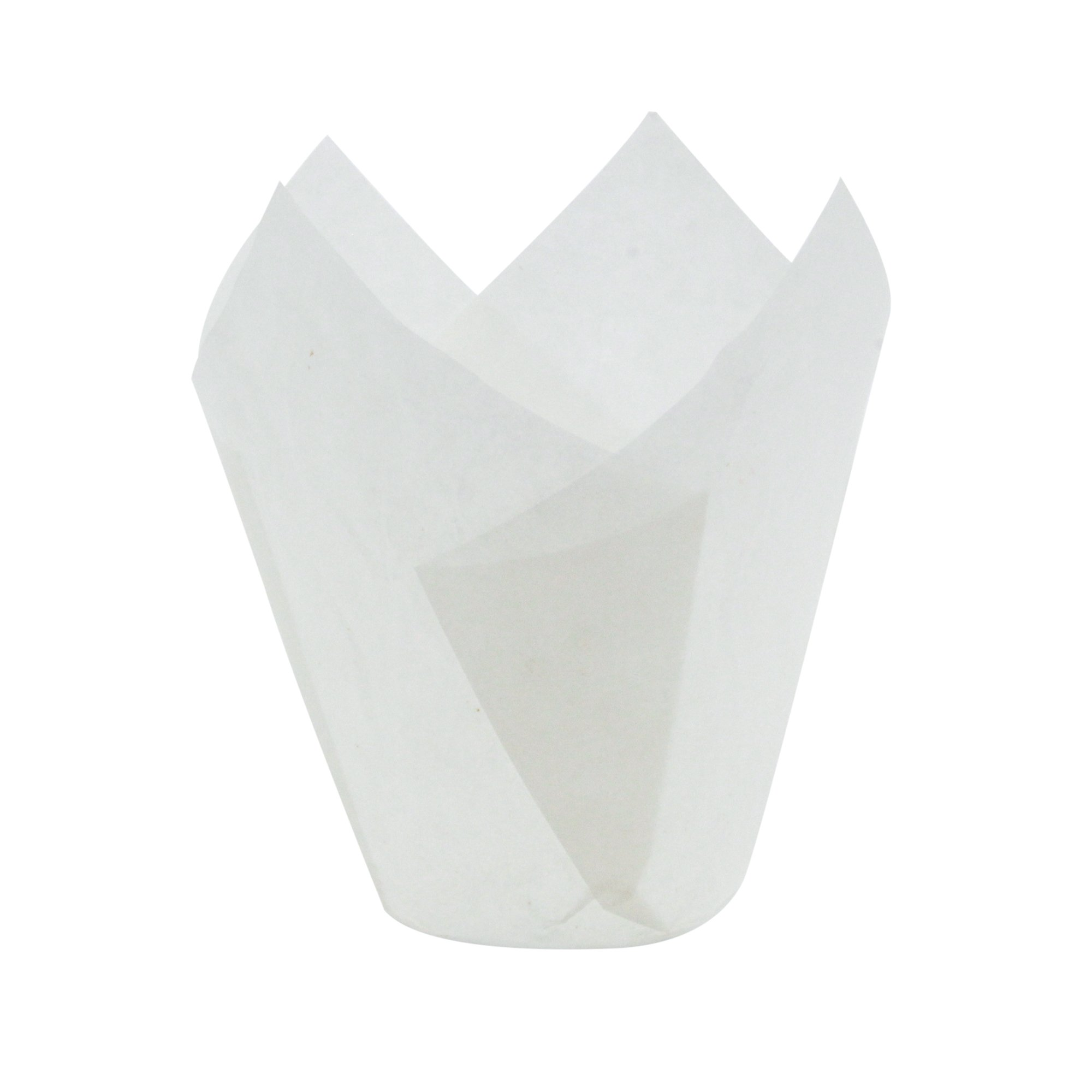 Tulip Cupcake Liner White Paper Baking Cups easy Release Muffin cup / No need To Spray Cup Perfect for Baking Muffins and Cupcakes, Medium Size: Tip H 3-17/64'' x 1-57/64'',(2000 pcs) by Ecobake