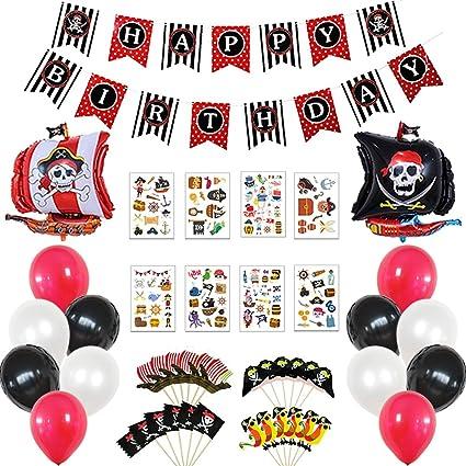 25 Pink Pirate Cupcake PicksPink Pirate Parties Supplies Decorations SALE