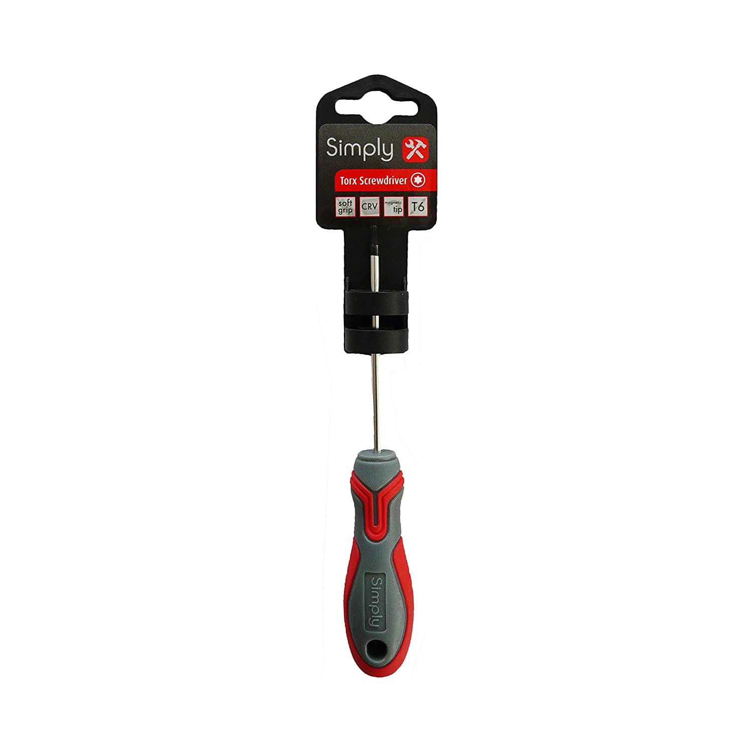 Simply Tools TORX06 T6 Torx Headed Screwdriver with  greater strength and durability extra grip on the screws head