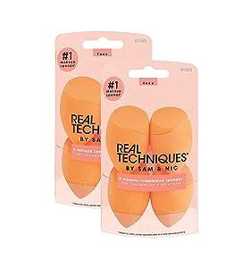 Real Techniques Miracle Complexion Beauty Sponge Makeup Blender, Set of 8