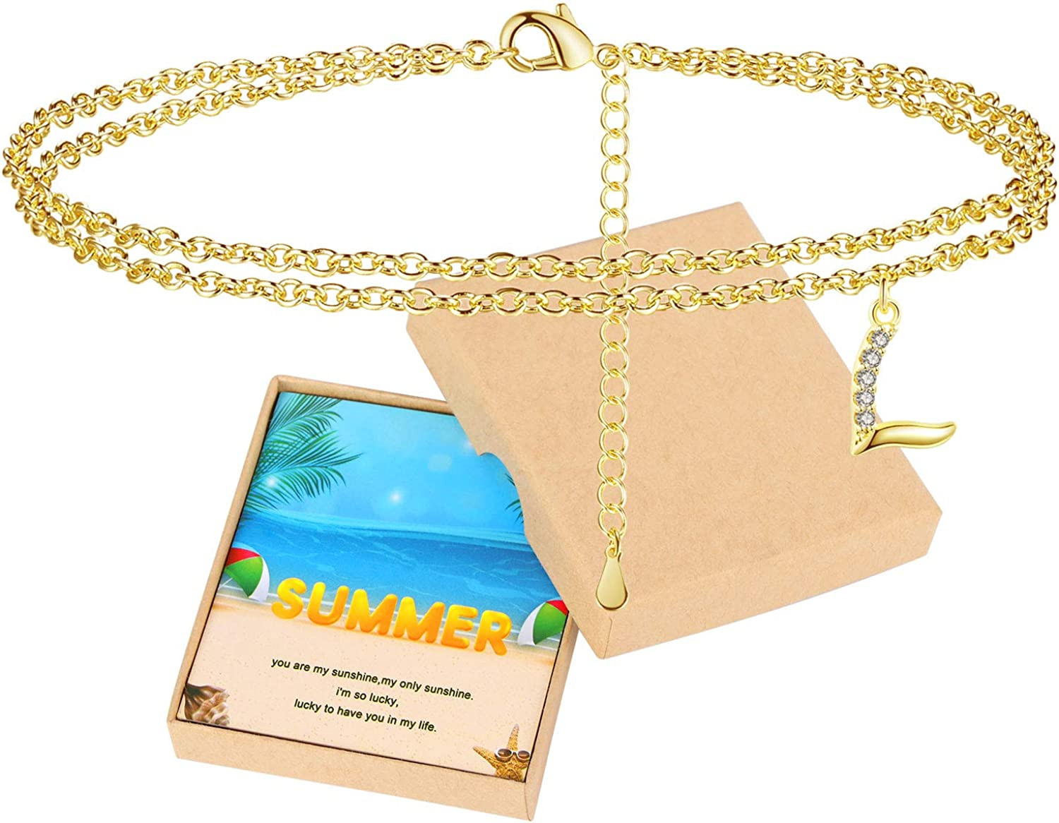 Gold Anklets for Women with Initial Summer Beach Ankle Bracelets for Women Teen Girls with Letter L