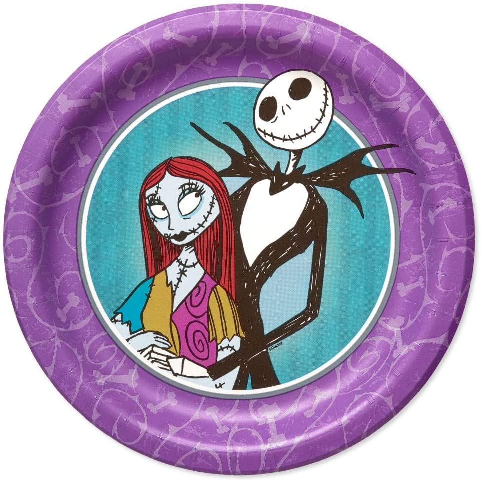 8 amscan Nightmare Before Christmas 9 Round Plate