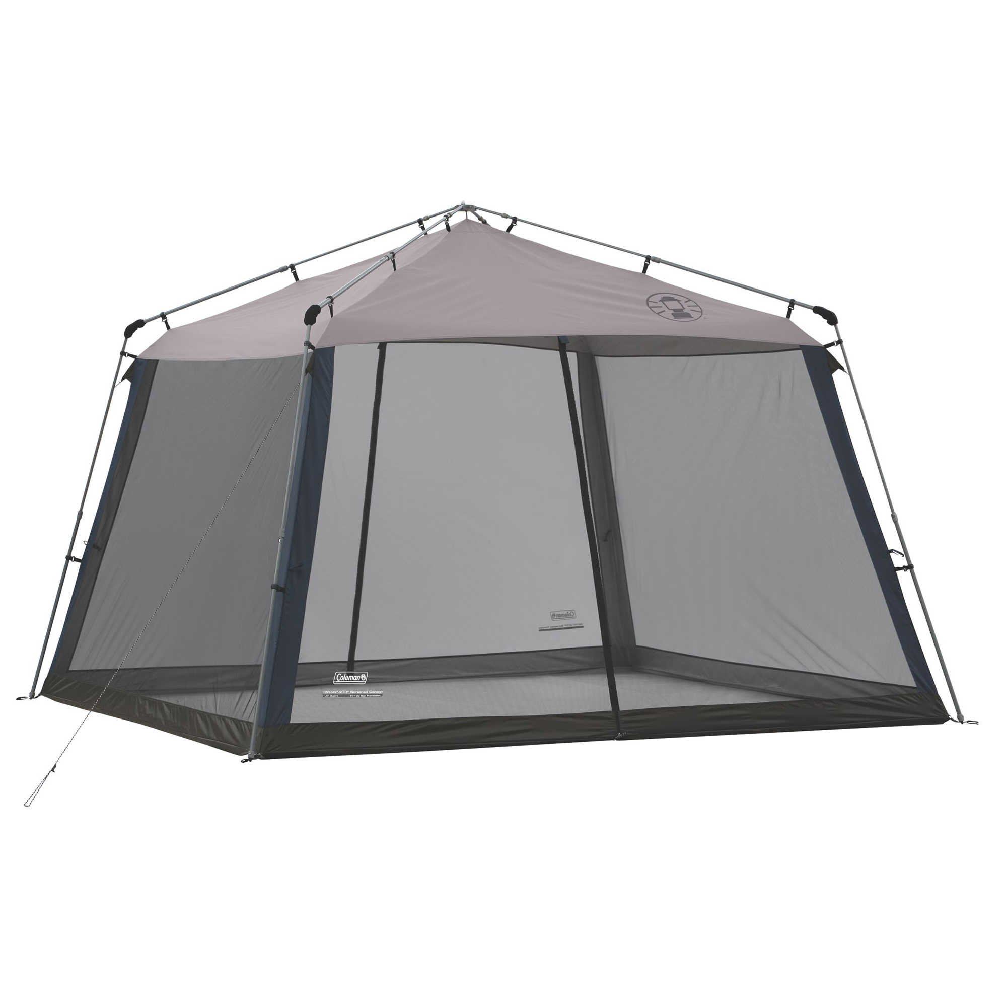 Durable Easy Set Up And Easy Access 11Ft x 11Ft Coleman Instant Screen House With UVGuard Protection, Navy/Grey by Generic (Image #2)