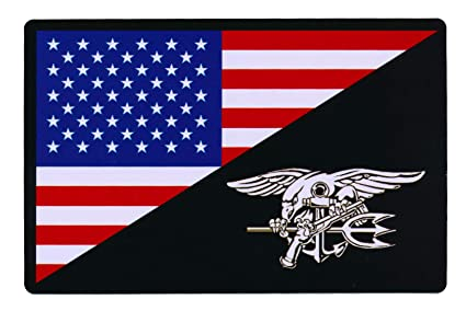 00a52f5af75 Image Unavailable. Image not available for. Color  Patch Squad Tactical USA  Flag Navy Seal Bumper Sticker ...
