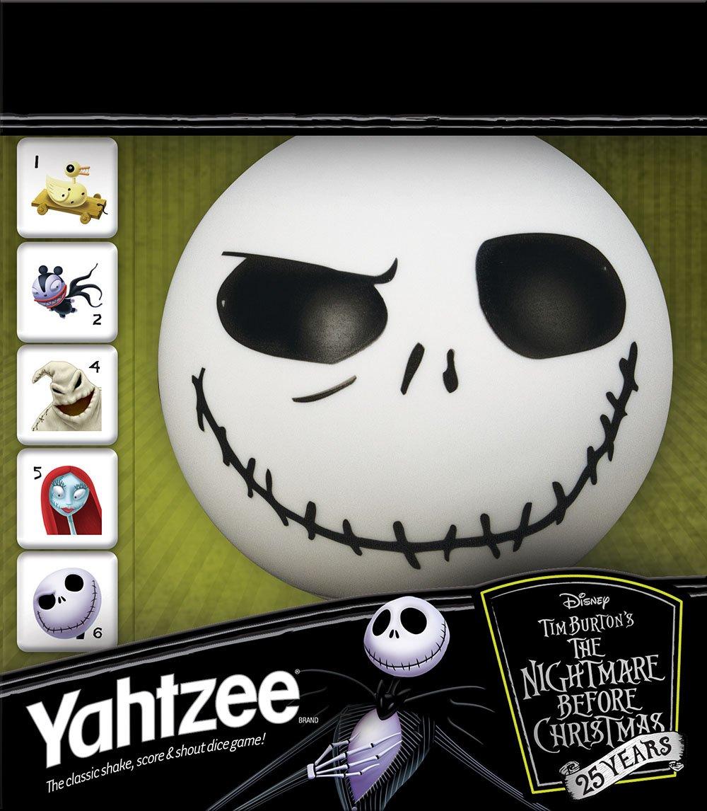 Amazon.com: USAopoly Yahtzee The Nightmare Before Christmas 25 Year ...