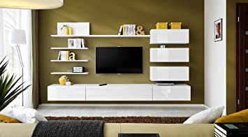 BMF U0026quot;ITALYu0026quot; Modern HIGH GLOSS Living Room / Bedroom / STUDIO FLAT