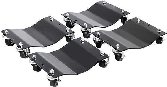 Pentagon Tools 5060 Tire Skates 4 Tire Wheel Car Dolly Ball Bearings Skate Makes Moving A Car Easy