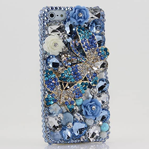 new style 893c1 782e2 Amazon.com: Bling iphone 5 5S case cover faceplate Luxury 3D ...