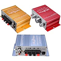 Amplificateur stereo - SODIAL(R)RCA 2CH Salut-Fi stereo Amplificateur Booster President MP3 Pour DVD de voiture Mini Moto