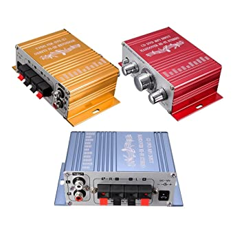 Amplificador estereo - SODIAL(R)RCA 2CH Hi-Fi Estereo Amplificador Booster DVD