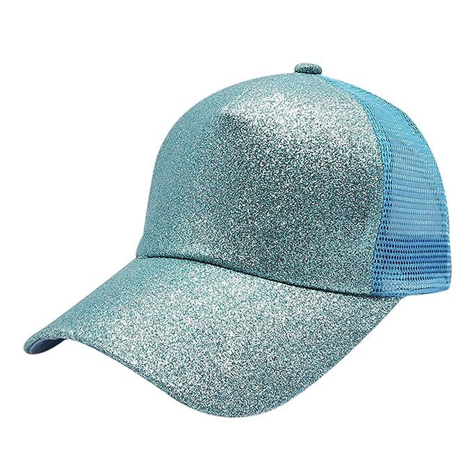 Sombrero de lentejuelas, sombrero de cola de caballo, gorra de béisbol, 2018 Nuevo sombrero de moda de verano para mujeres: Amazon.es: Ropa y accesorios