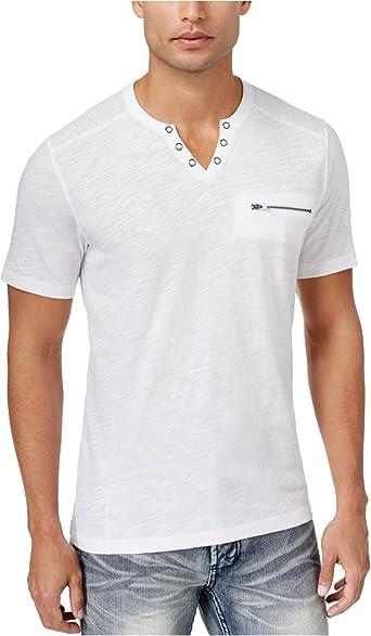 I-N-C Mens Dip Dye Basic T-Shirt